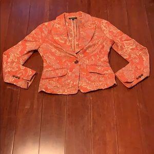 Bebe gold & orange blazer size 4